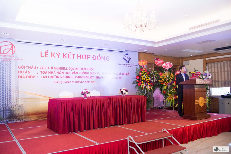 Tổ chức lễ kí kết hợp đồng CTy Tràng An & CTy PMCC